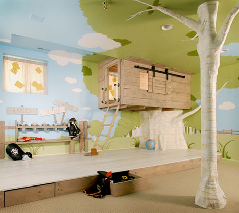 Kinderkamer boomhut