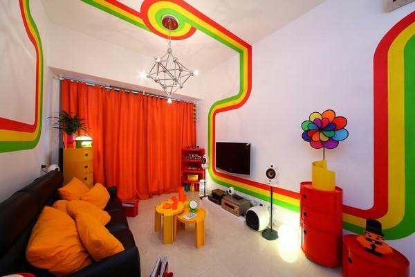 Kleurrijke kamer